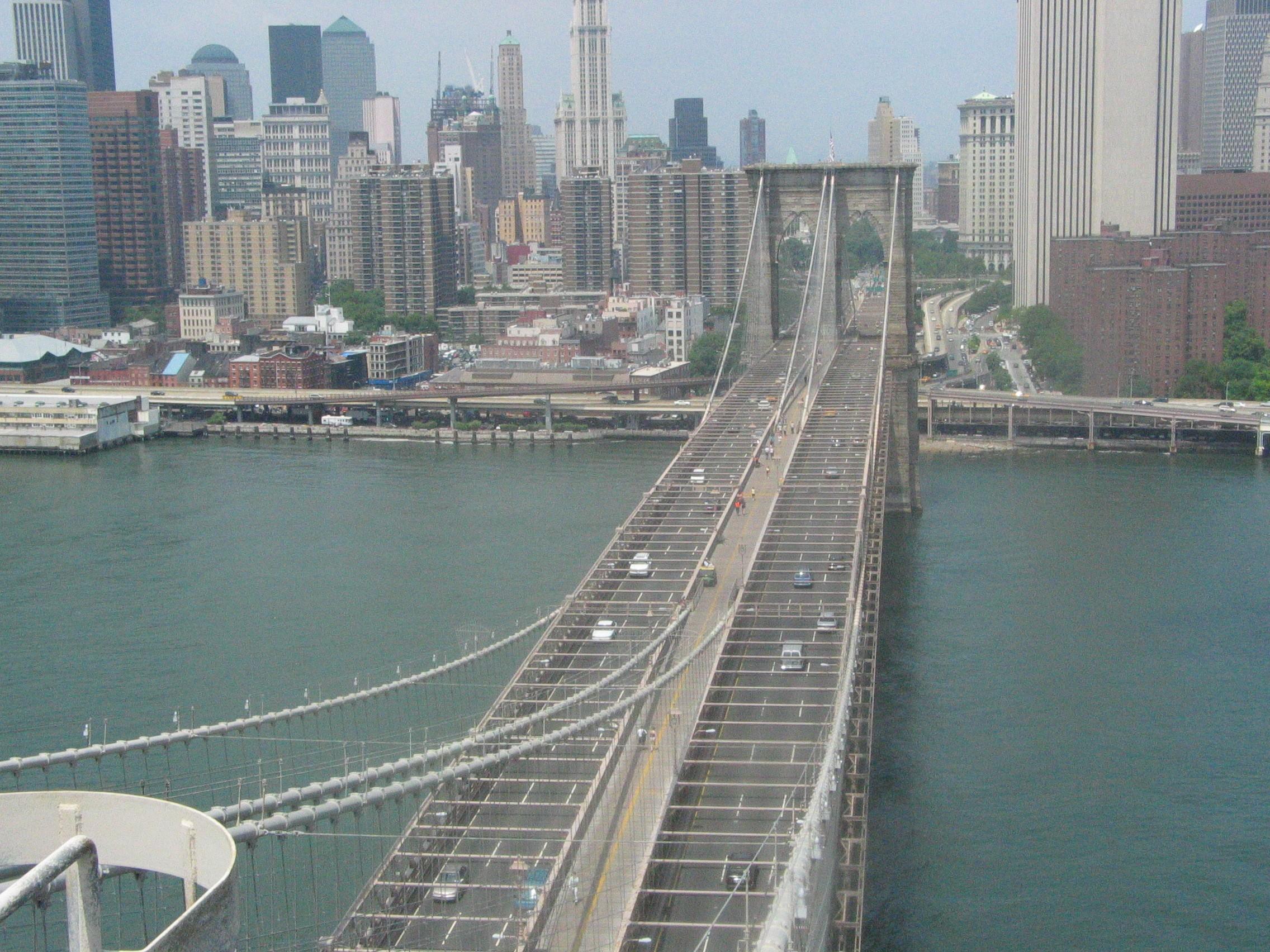 brooklyn bridge from tower