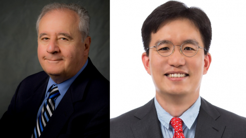 Co-authors Dan M. Frangopol (left) and Sunyong Kim (right).
